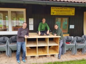 Team Holzbau: Daniel Belik, Robin und Till Scheuermann