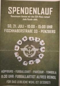 ESV Plakat Spendenlauf