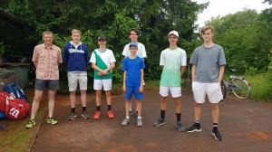 Till, Robin, Lorenz, Konstantin, Max (vorne), Matthias, Benedikt